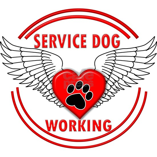 SERVICE DOG WORKING RED