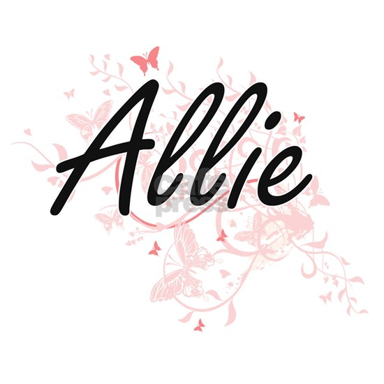 Allie Artistic Name Design with Butterflies