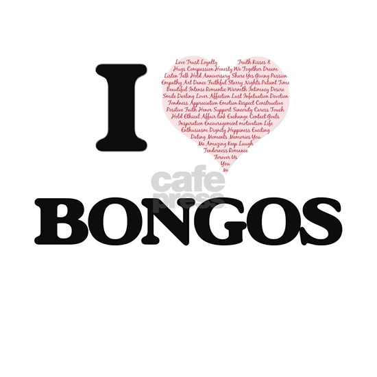 I love Bongos (Heart Made from Words)