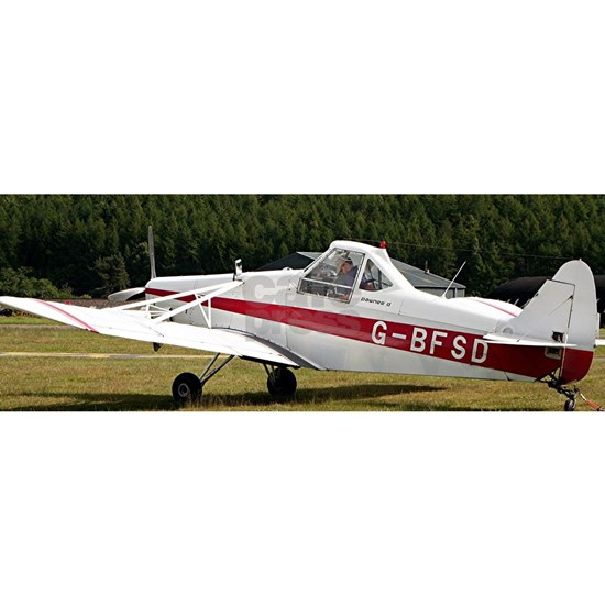 Low wing tricycle glider tow plane (red & white)