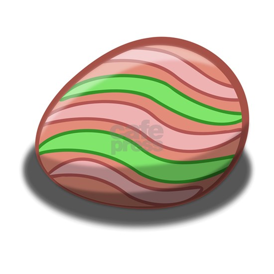 Pink & Green Stripped Easter Egg
