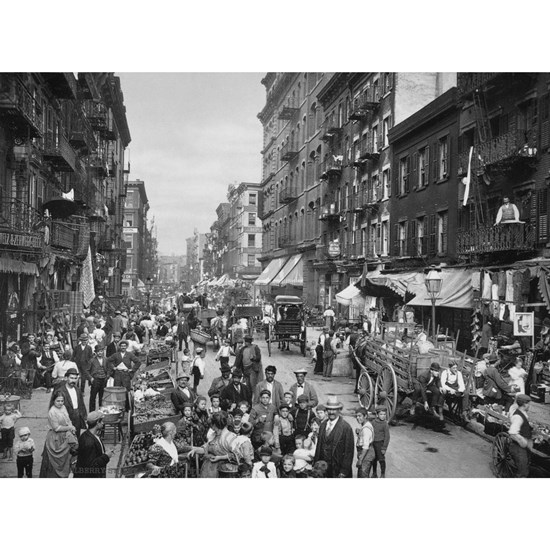 New York, Market on Mulberry Street - Vintage