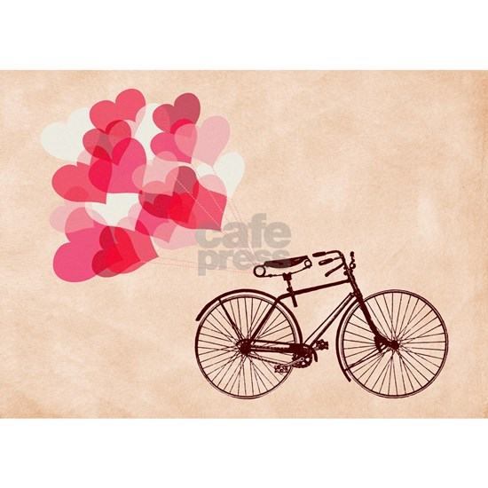 Heart-Shaped Balloons and Bicycle