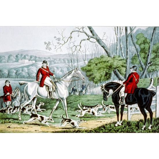Fox chase - Throwing off - 1846