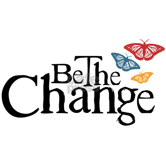 Gandhi - Be the Change butterfly