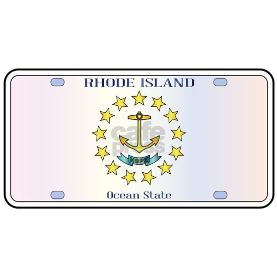 Rhode Island Flag License Plate