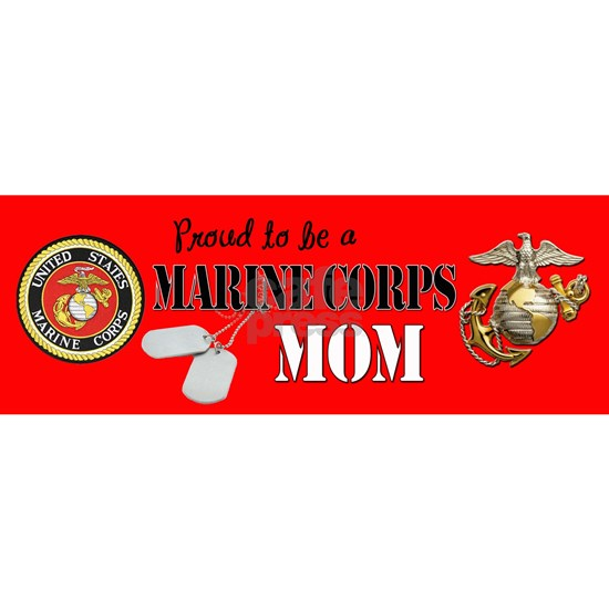 Proud Marine Mom Dog Tags