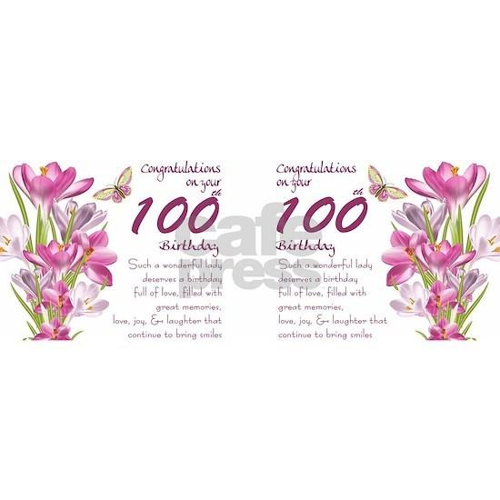 100th Birthday crocus Gift Mug