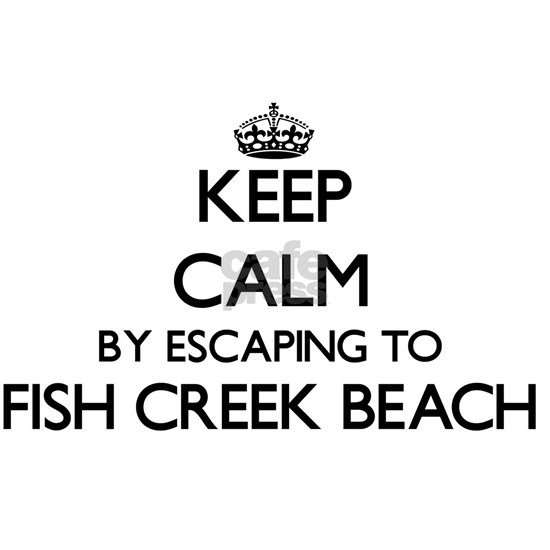 Keep calm by escaping to Fish Creek Beach Wisconsi
