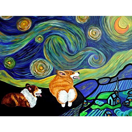 Corgi Starry Starry Night