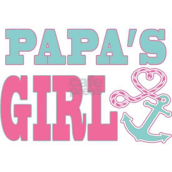 Papas Girl Boat Anchor and Heart