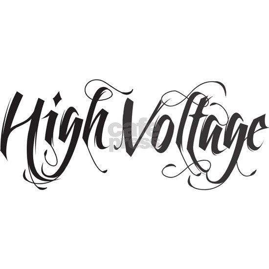 high voltage text black