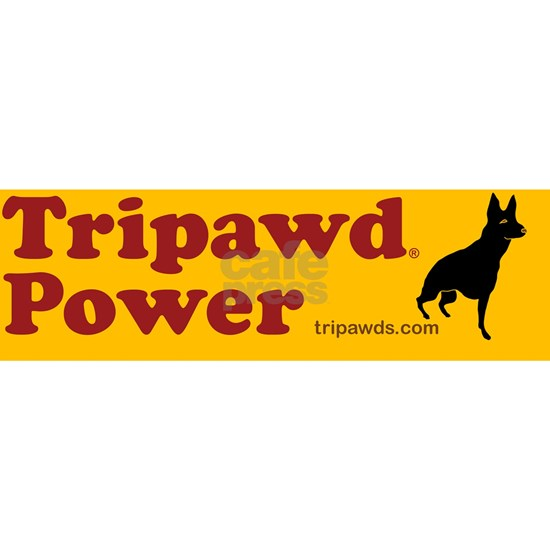tripawd power sticker gsd front black