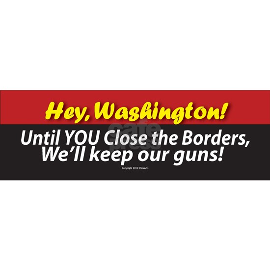 Anti-Gun Control sticker (bumper)
