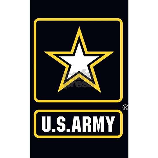 US ARMY Gold Star Logo Black
