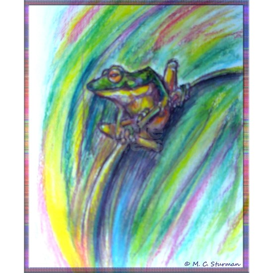 Tree frog! Wildlife art!