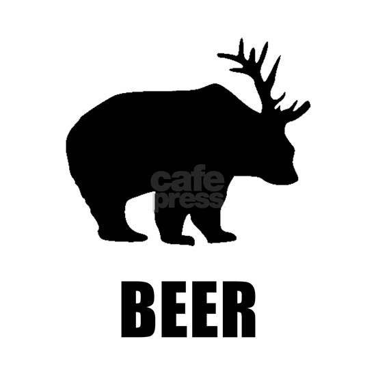 Beer Bear Black