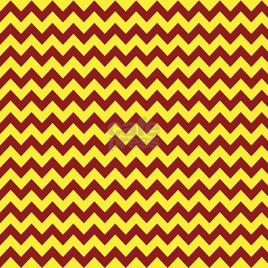Maroon and Gold Chevron