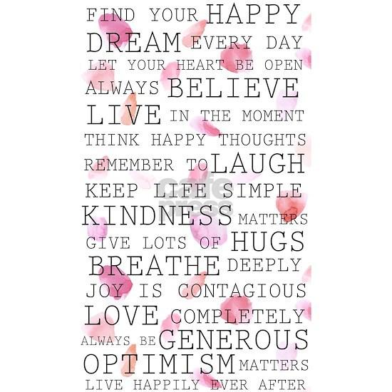 Romantic Rose Petals inspirational words