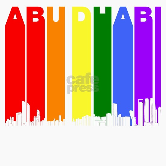 Abu Dhabi Gay Pride Rainbow Skyline