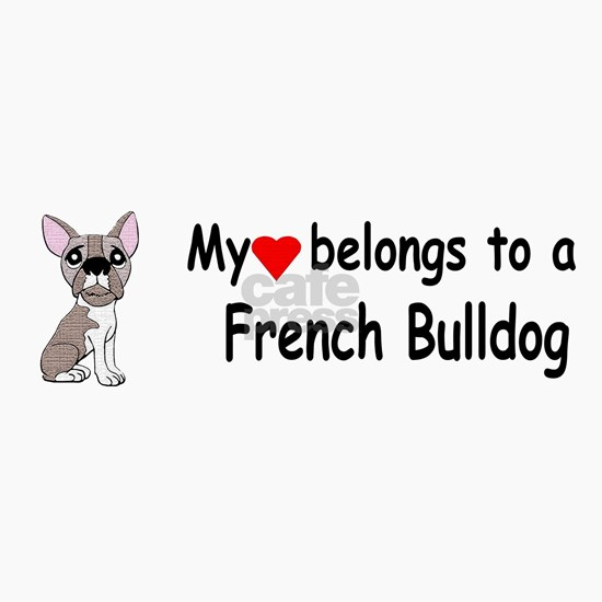 my heart french bulldog bumper