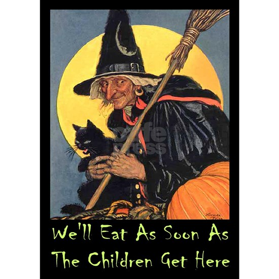 Halloween_WITCH - WELL EAT 10x14 GREEN