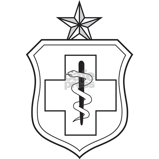 Enlisted Medical Oval Ornament by The Air Force Store
