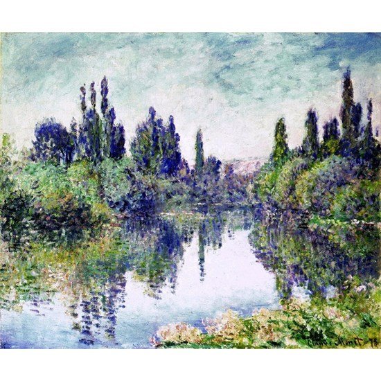 Morning on the Seine, near Vetheuil - Claude Monet
