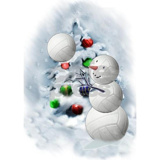 Volleyball Snowman xmas