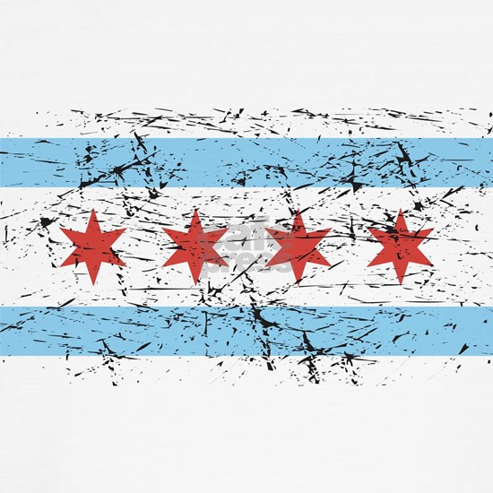 Chicago Flag Distressed