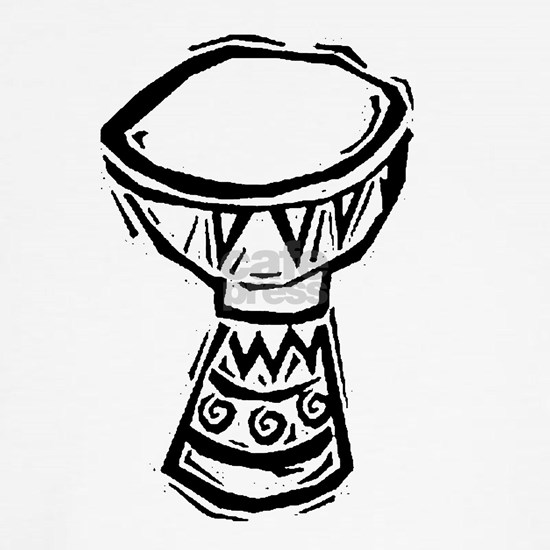 Djembe Drum woodcut