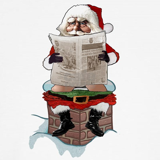 "Santa Claus ""Party Pooper"" Funny Christmas"