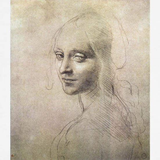 Study of Head of a Girl