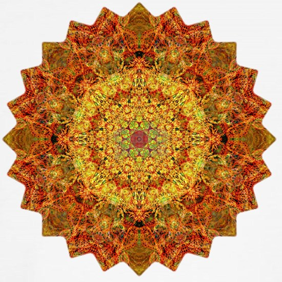 Orange Gold Yoga Mandala Shirt