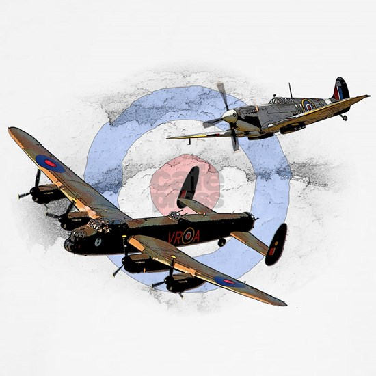 Spitfire and Lancaster