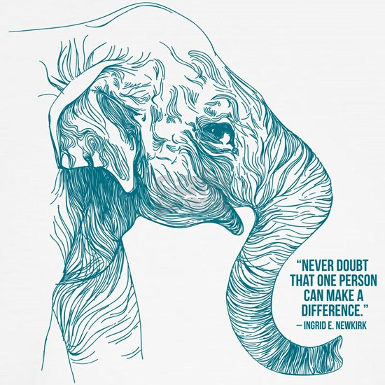 One Can Make a Difference Elephant Sketch