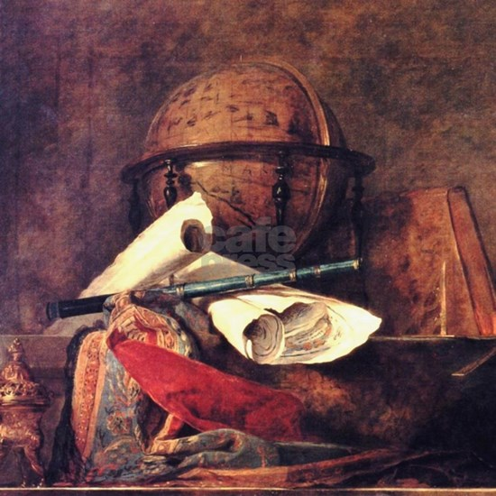 Travel Globe painting by Chardin