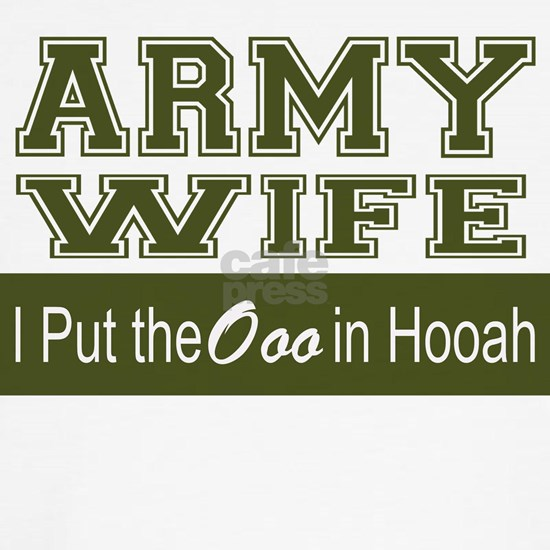 Army Wife Ooo in Hooah_Green