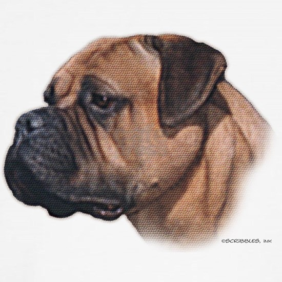 Bullmastiff Mosaic-look