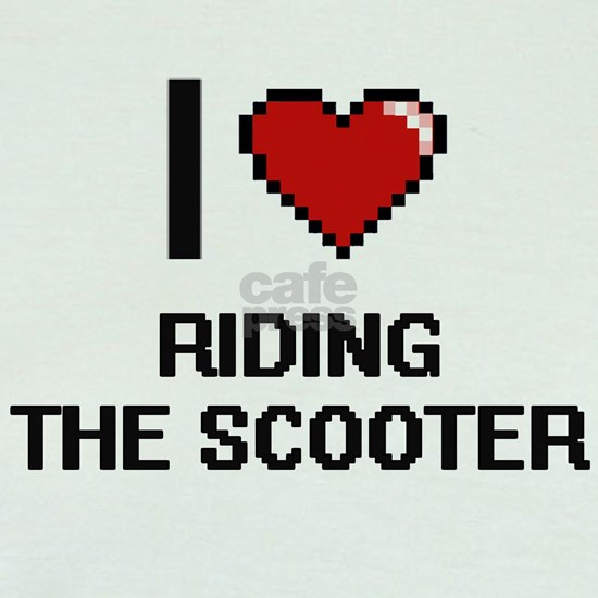 I love Riding The Scooter digital design