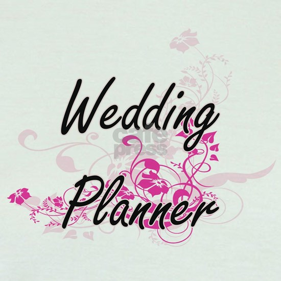 Wedding Planner Artistic Job Design with Flowers