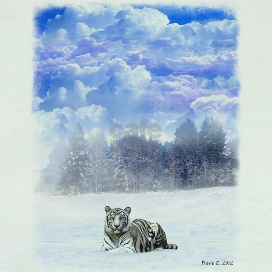 Whiter tiger in the snow