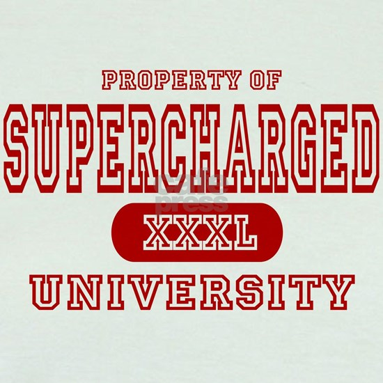 property university red supercharged car for white