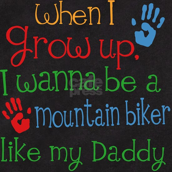 Mountain Biker Like Daddy