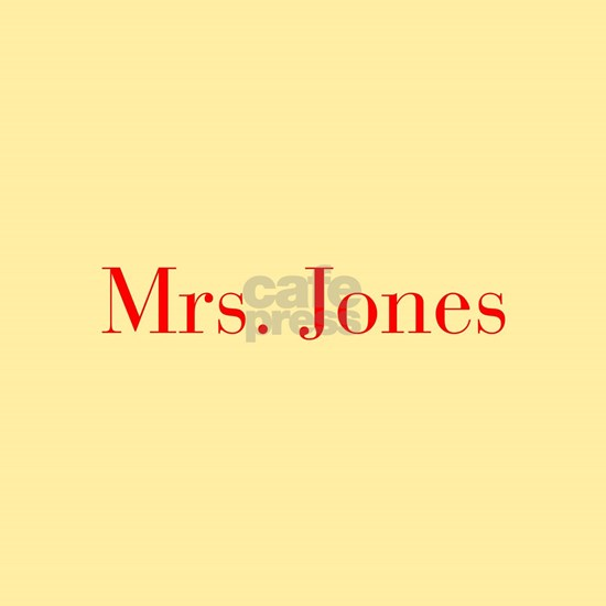 Mrs Jones-bod red