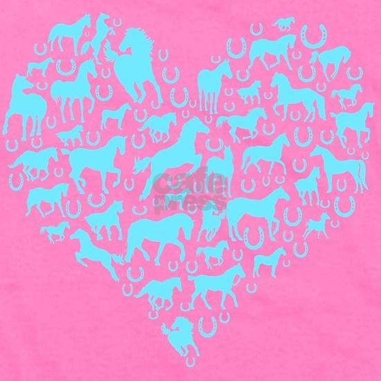 Horse Heart Light Blue