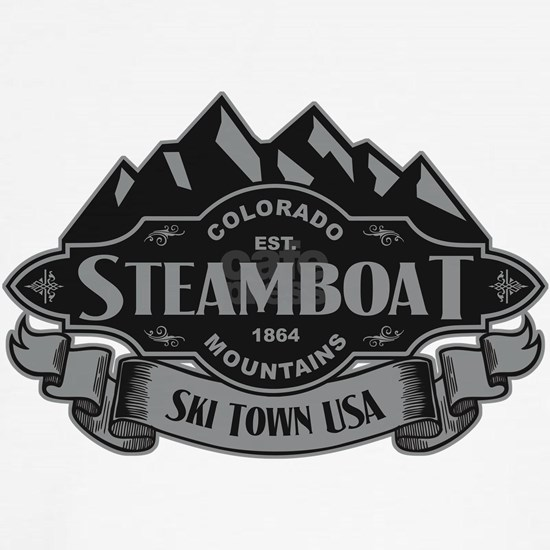 Steamboat Mountain Emblem Black Silver