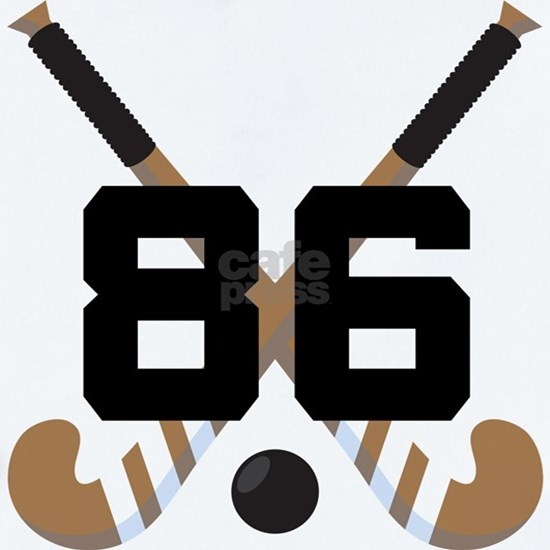 Field Hockey Player Number 86