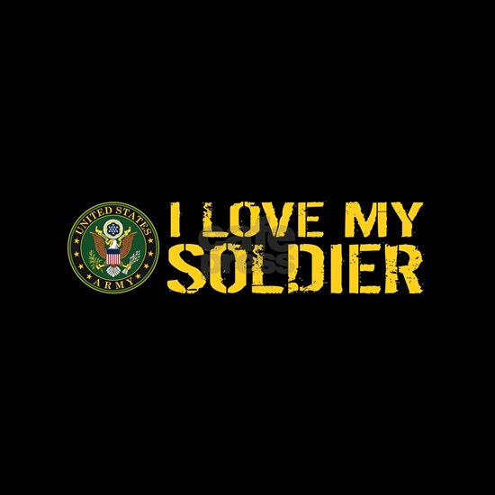 U.S. Army: I Love My Soldier (Black & Gold)