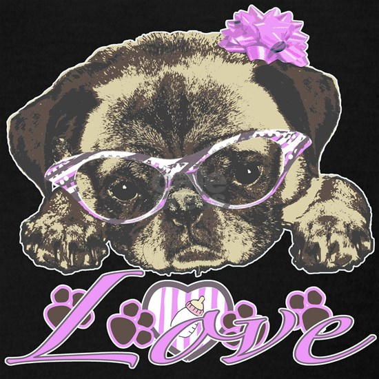 Pug in pink
